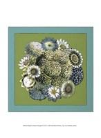 """Small Celadon Bouquet IV by Chariklia Zarris - 10"""" x 13"""""""