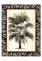 "Small Palm in Zebra Border I by Vision Studio - 13"" x 19"""