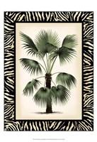 "Small Palm in Zebra Border II by Vision Studio - 13"" x 19"""