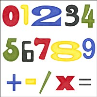 Kid's Room Numbers Fine Art Print