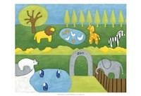 Storybook Zoo Framed Print