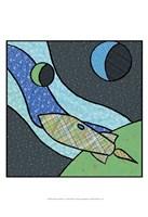 Patchwork Planets I Framed Print