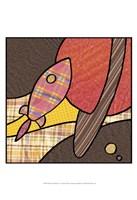 Patchwork Planets IV Framed Print