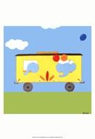 "Circus Train III by June Erica Vess - 13"" x 19"""