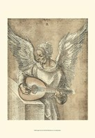 "Angel with Lute by Albrecht Durer - 13"" x 19"""