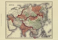 Small Antique Map of Asia (P) Fine Art Print