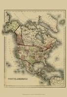 Small Antique Map of N. America (P) Fine Art Print