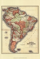 Small Antique Map of S. America (P) Fine Art Print