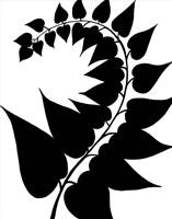 Leaf Silhouette IV Fine Art Print