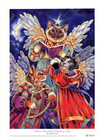 Felines Heralding Christmas Joy Fine Art Print