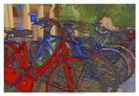 "Colorful Bicycles I by Danny Head - 19"" x 13"""