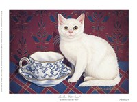 Tea Time With Angel Fine Art Print