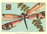 """Dragonfly on Aqua II by Vision Studio - 13"""" x 10"""""""
