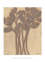 "Gilded Grey Leaves I by Norman Wyatt Jr. - 10"" x 13"""