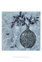 "Ornate Vase with Indigo Leaves I by Norman Wyatt Jr. - 13"" x 19"", FulcrumGallery.com brand"