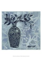"Ornate Vase with Indigo Leaves II by Norman Wyatt Jr. - 13"" x 19"", FulcrumGallery.com brand"