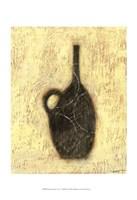 Woodcut Ebony Vase II Fine Art Print