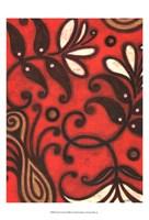 "Scarlet Textile II by Norman Wyatt Jr. - 13"" x 19"""