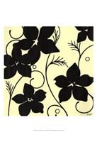 Cream with Black Flowers Fine Art Print
