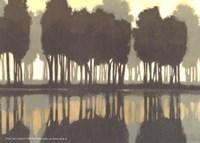 """Lake at Dawn I by Norman Wyatt Jr. - 7"""" x 5"""""""