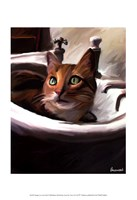 "Orange Cat in the Sink by Robert McClintock - 13"" x 19"""