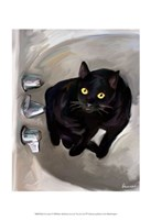 "Black Cat Lookin' by Robert McClintock - 13"" x 19"""