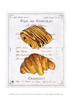 Pain au Chocolat et Croissant Framed Print
