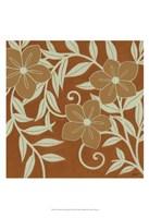 """Tan Flowers with Mint Leaves II by Norman Wyatt Jr. - 13"""" x 19"""""""