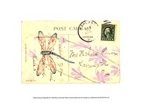 Postcard Dragonfly III Fine Art Print