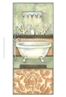 Damask Bath I Fine Art Print