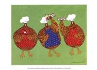 Chef Hens I Fine Art Print