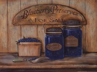 Blueberry Preserves Framed Print