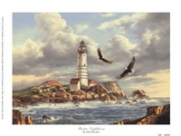 "Boston Lighthouse by Rudi Reichardt - 8"" x 6"" - $9.49"