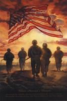 Bless America's Heroes Framed Print
