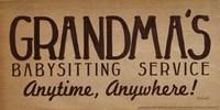 Grandma's Babysitting Service Fine Art Print