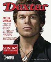 Dexter Rolling Stones Wall Poster
