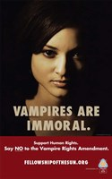 True Blood Vampire are Immoral. Wall Poster