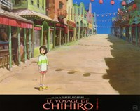 """Spirited Away (French Title) - empty town - 14"""" x 11"""""""
