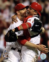 Roy Halladay throws the second no-hitter in MLB postseason Framed Print