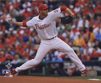Roy Halladay throws second no-hitter in MLB postseason Fine Art Print
