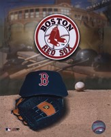 Boston Red Sox Logo and Cap Fine Art Print