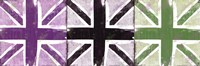 "Union Jack Three Square II by Louise Carey - 18"" x 6"" - $9.99"