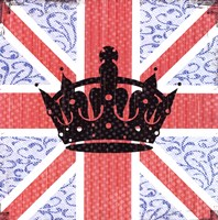"""Union Jack Crown by Louise Carey - 12"""" x 12"""" - $9.99"""