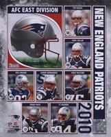"""2010 New England Patriots Team Composite, 2010 - 8"""" x 10"""""""