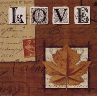 Natures Journal - Love Framed Print