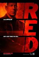 Red Bruce Willis Framed Print