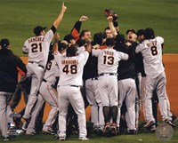 "The San Francisco Giants Celebrate Winning the 2010 NLCS - 10"" x 8"""