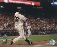 "Edgar Renteria Game Two of the 2010 World Series Home Run Action - 10"" x 8"""