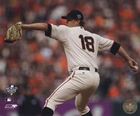 "Matt Cain Game Two of the 2010 World Series Action - 10"" x 8"", FulcrumGallery.com brand"