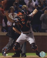 """Buster Posey Celebrates Winning Game Five of the 2010 World Series - 8"""" x 10"""""""